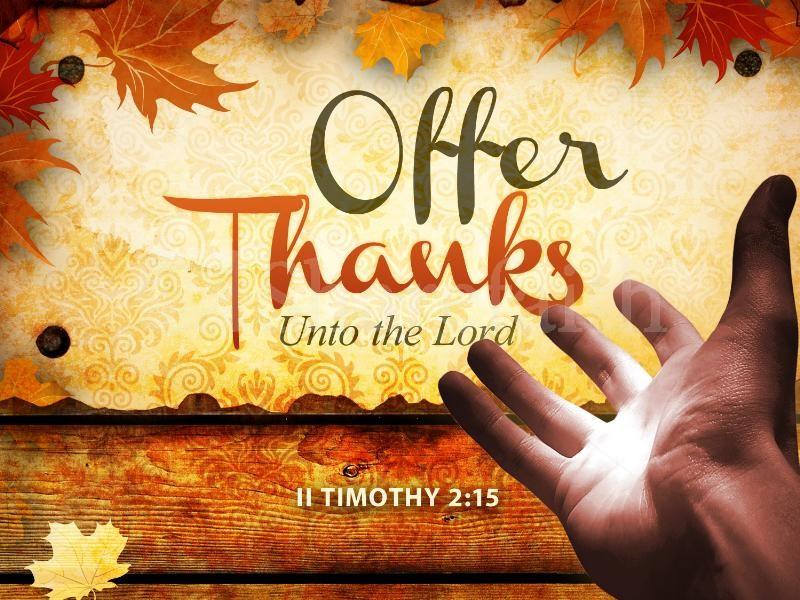 THANKSGIVING – VOLUNTEER APPRECIATION DINNER