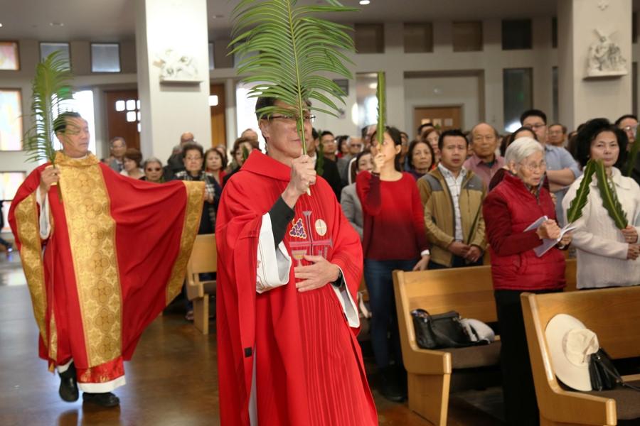 Chúa Nhật lễ Lá 2018 tại GX Đức Mẹ La Vang