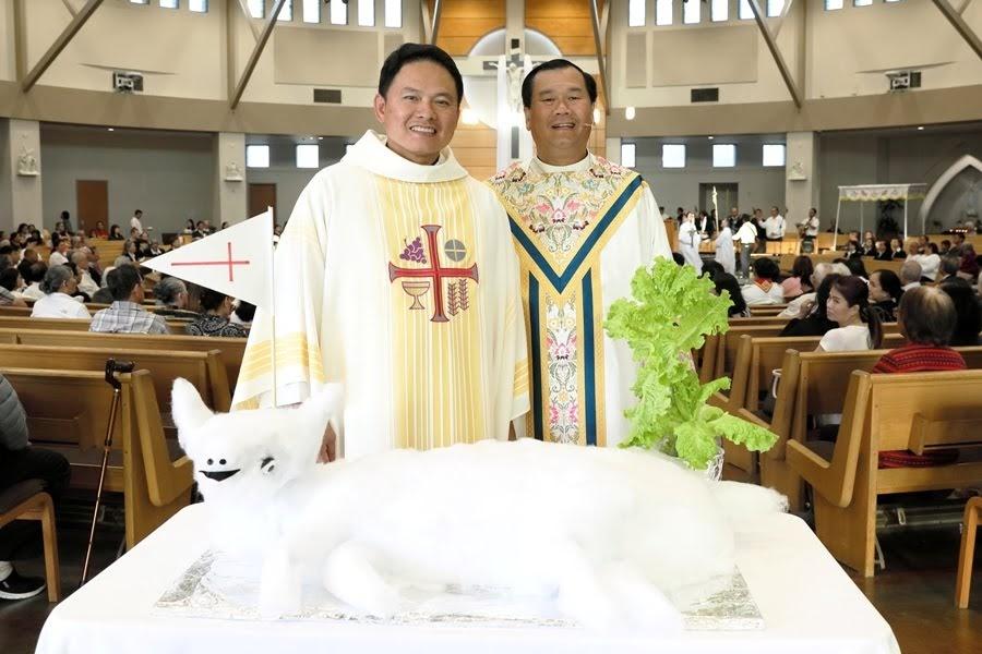 Thánh Lễ Tiệc Ly Giáo xứ Đức Mẹ La Vang Giáo phận Orange Califormia.