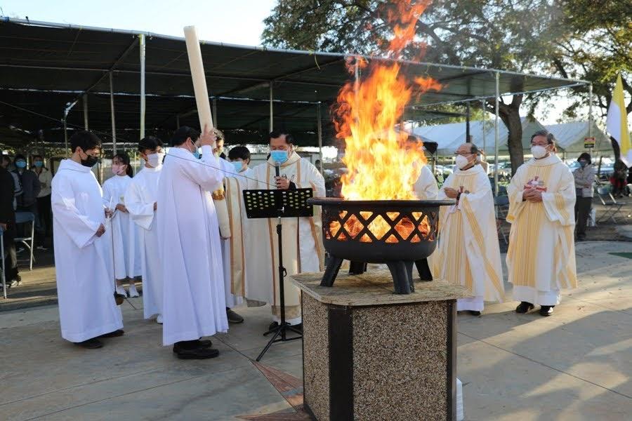 APR 03 2021 Thánh Lễ Vọng Phục Sinh, Nghi Thức Rửa Tội Dự Tòng.